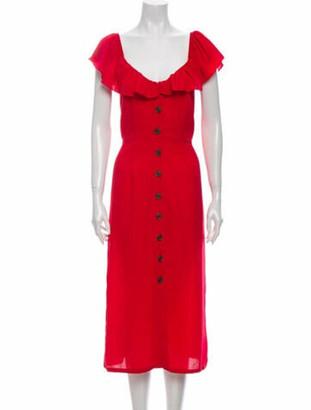 Barneys New York V-Neck Long Dress w/ Tags Red