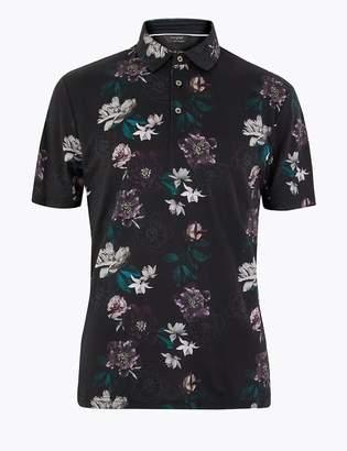 Marks and Spencer Supima Cotton Printed Polo Shirt