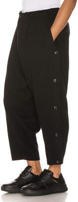 Yohji Yamamoto Side Button Pants in Black | FWRD