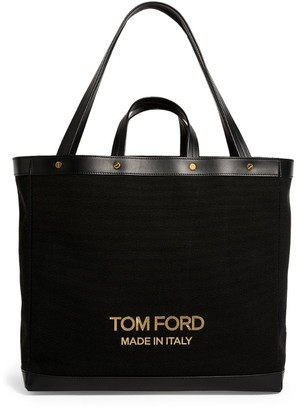 Tom Ford Canvas T Screw Tote Bag
