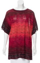M Missoni Oversize Short-Sleeve Top