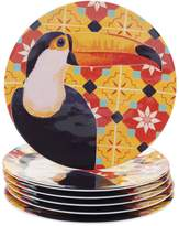 Certified International Paradise 6-piece Melamine Dinner Plate Set