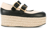 Marni flatform espadrille Mary-Jane pumps