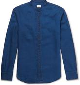 Club Monaco Slim-Fit Grandad Collar Slub Linen Shirt