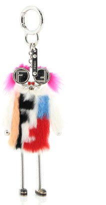 Fendi Teen Witches Bag Charm Fur with Metal