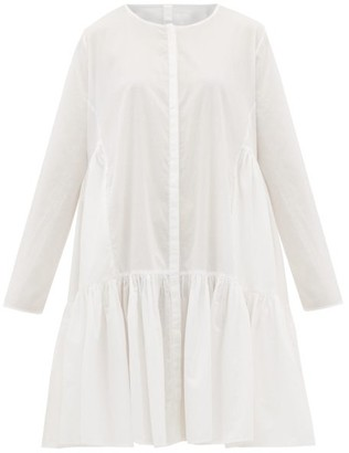 Merlette New York Martel Tiered Cotton-lawn Dress - White