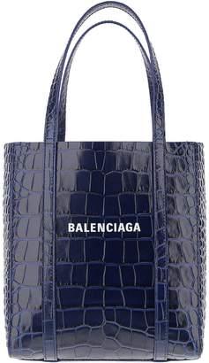 Balenciaga Navy Shopper