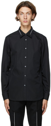 Alexander McQueen Black Slashed Shirt