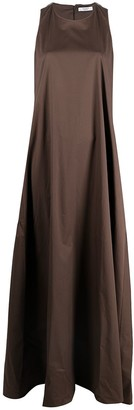 Peserico Round Neck Sleeveless Maxi Dress