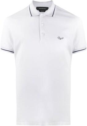 Ermenegildo Zegna Logo-Embroidered Polo Shirt