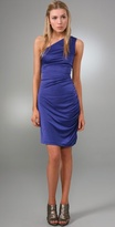 Halston Heritage Side Shirred Day Dress