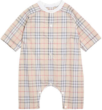 Burberry Colton Check Shortall, Size 1-18 Months