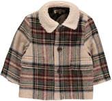 Caramel Newcastle Checks Wool Coat