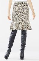 BCBGMAXAZRIA Bethani Spotted Ocelot Jacquard Flounce Skirt