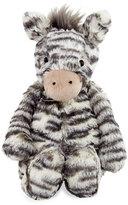Jellycat Medium Bashful Zebra Plush Animal, Gray/White