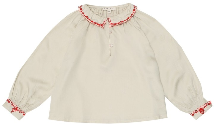 Caramel Embroidered blouse