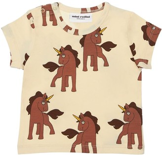 Mini Rodini Unicorn Print Organic Cotton T-Shirt