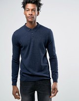 Minimum Jaylen Merino Knit Polo Long Sleeve