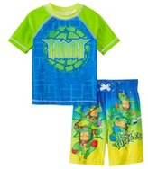 Nickelodeon Boys' Teenage Mutant Ninja Turtles Swim Trunks & Rashguard Set (2T4T) - 8147452