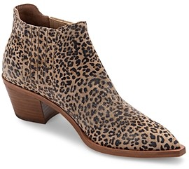 Dolce Vita Women's Shana Pointed Toe Leather & Calf Hair Booties