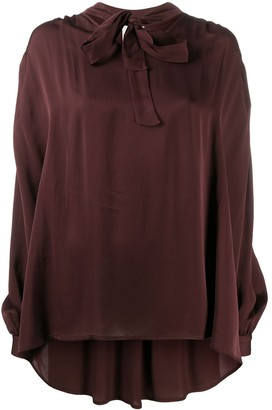 L'Autre Chose Pussy-Bow Long-Sleeved Shirt