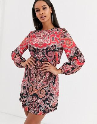 Lipsy paisley print shift dress