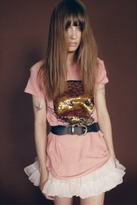 Wildfox Couture Sequin Lion King Swing Back Dress in Blush