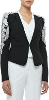 Abram Embroidered Blazer