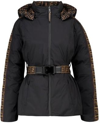 Fendi FF reversible down ski jacket