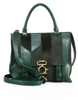 Derek Lam 10 Crosby Mini Ave A Patchwork Top-Handle Satchel
