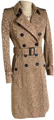Burberry Gold Silk Trench Coat for Women