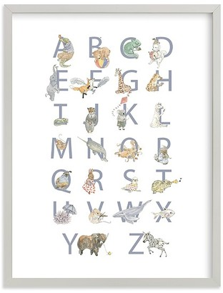 Pottery Barn Kids Minted The Animalphabet Wall Art by Genevra Bell