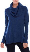 Sofia Cashmere Cowl Neck Hi-Low Cashmere Sweater