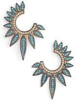 Azaara Fan Cubic Zirconias Earrings