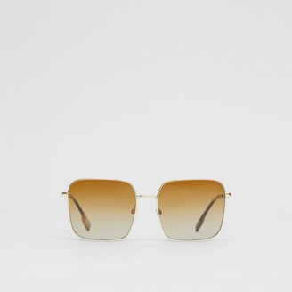 Burberry Oversized Square Frame Sunglasses