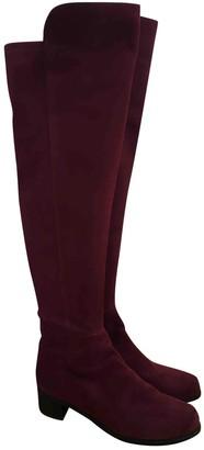Stuart Weitzman Red Suede Boots