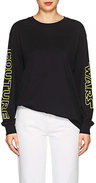 "Moschino Women's ""Couture Wars"" Cotton Long-Sleeve T-Shirt - Black"