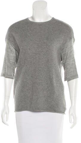 Giambattista Valli Wool & Cashmere-Blend Short Sleeve Sweater
