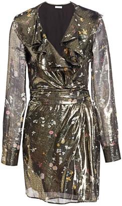 Altuzarra Lennox Metallic Floral Silk-Blend Mini Dress
