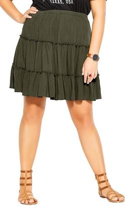 City Chic Love Ruffle Tiered Skirt