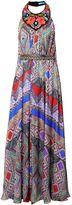 Matthew Williamson Andean Artisan Beaded Silk Chiffon Evening Gown