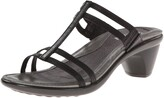 Naot Footwear Women's Loop Slide Sandal Black Raven Lthr 11 M US