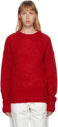 Isabel Marant Red Mohair Estelle Sweater