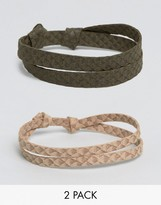 Asos Bracelet Pack In Snake Effect