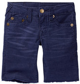 True Religion Geno Cut Off Corduroy Short (Toddler & Little Boys)