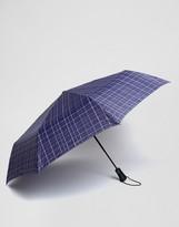 Fulton Umbrella In Blue Check