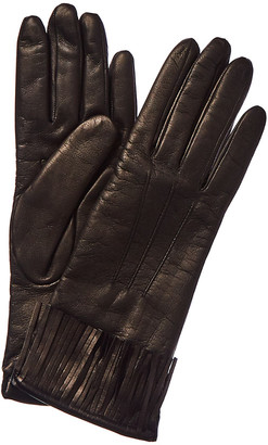 Portolano Fringe Cashmere-Lined Leather Gloves