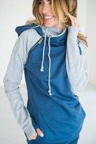 Ampersand Avenue Baseball DoubleHoodTM Sweatshirt - Blue