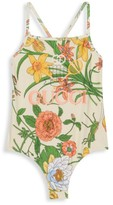 Gucci Little Girl's & Girl's Flora Printed One-Piece Swimsuit