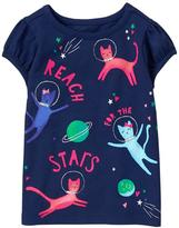 Gymboree Space Cats Tee